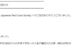 チームWADA赤十字寄付企画 10万円納付